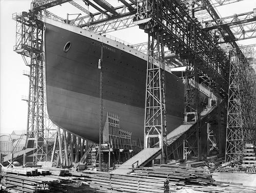 RMS Titanic ready for launch, 1911.