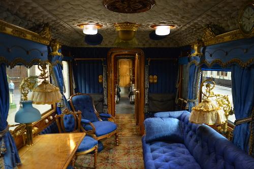 Inside Queen Victoria's Carriage.