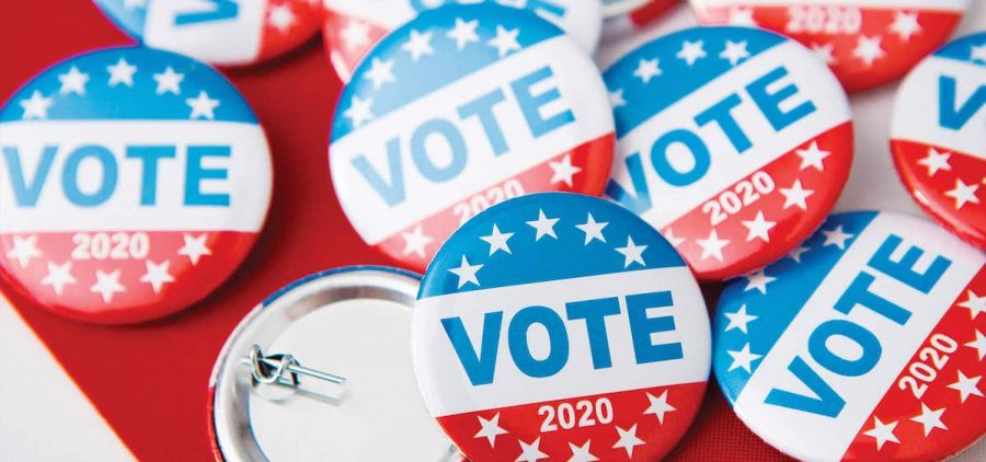 Vote 2020 buttons