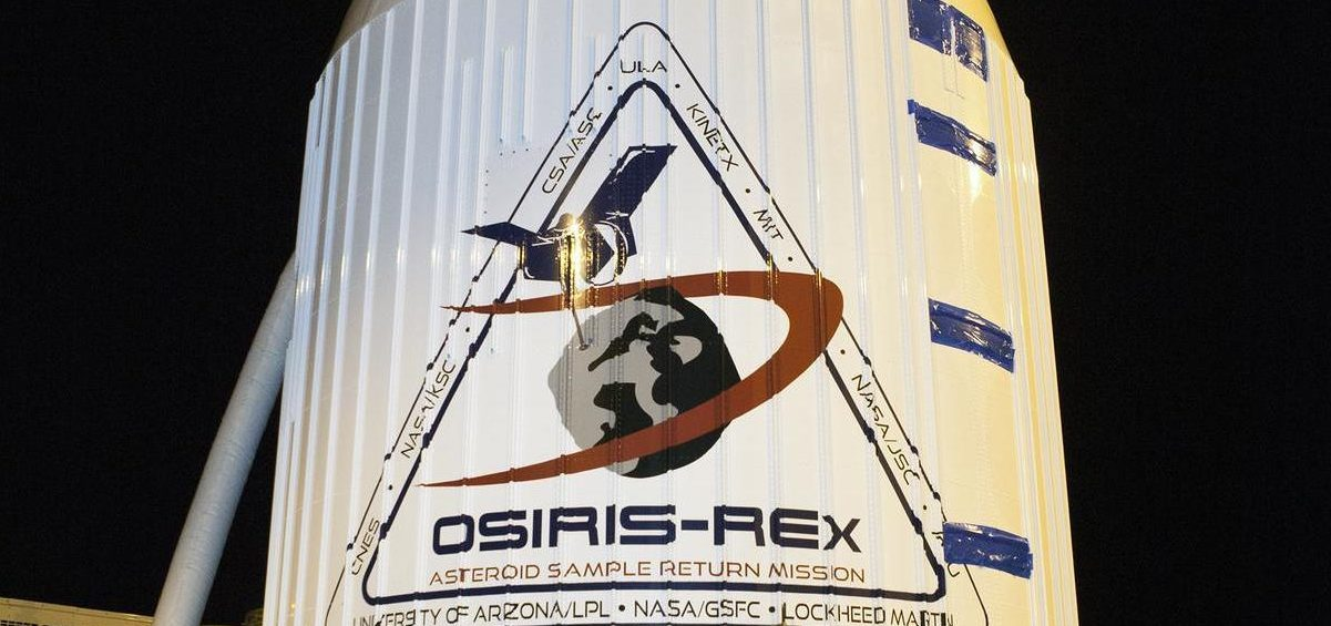 The OSIRIS-REx spacecraft at NASA's Kennedy Space Center on its way to Cape Canaveral Air Force Station, where it launched in September, 2016