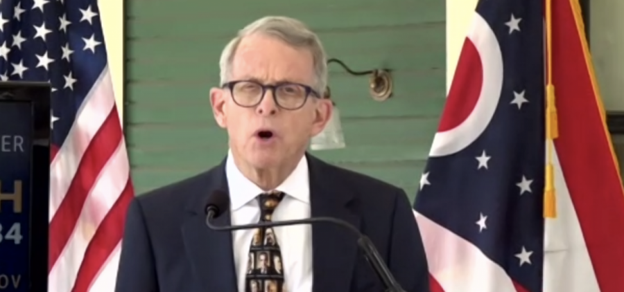 Gov. Mike DeWine at his home