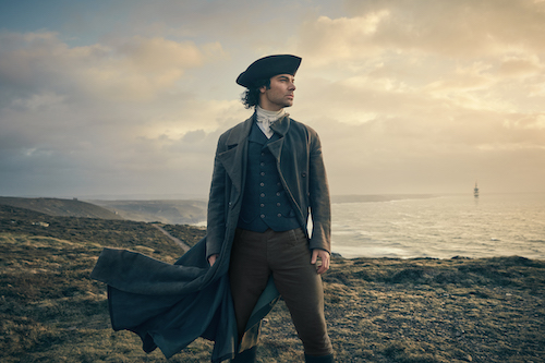 Aidan Turner as Ross Poldark in POLDARK ON MASTERPIECE.