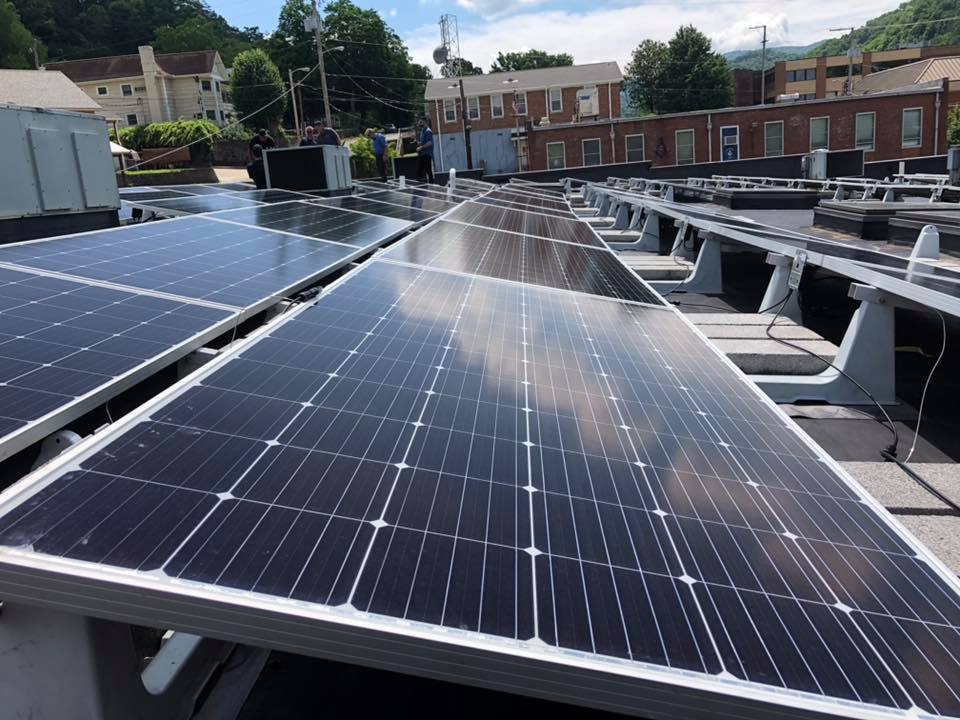 A solar array installed this month at housing nonprofit, HOMES, Inc.