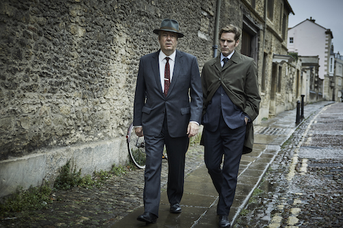 Roger Allam as Fred Thursday and Shaun Evans as Endeavour Morse in ENDEAVOUR ON MASTERPIECE.