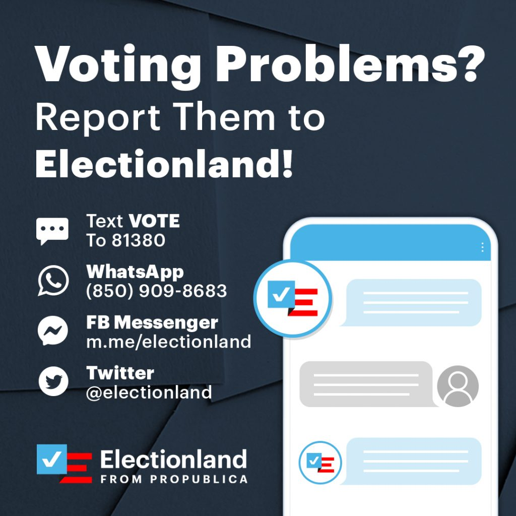 How to get in touch with Electionland