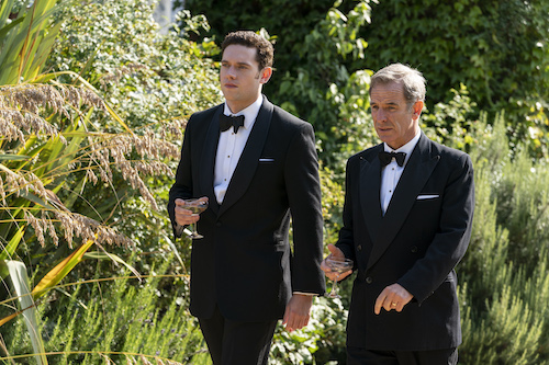Tom Brittney as Will Davenport and Robson Green as Geordie Keating in GRANTCHESTER ON MASTERPIECE.