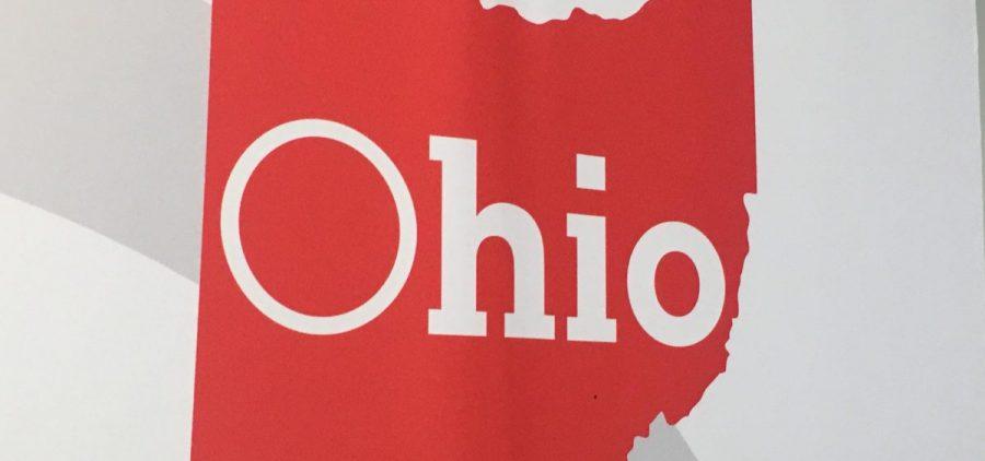 A JobsOhio logo in red