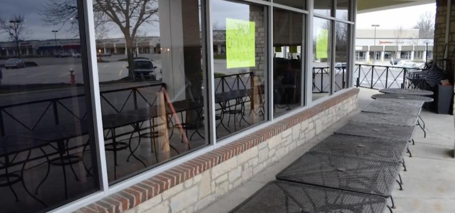 Patio outside Columbus restaurant