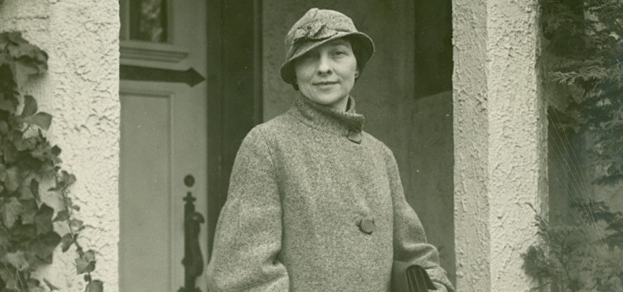 Elizebeth S. Friedman departs from Washington, D.C. to appear in federal court. 1934.