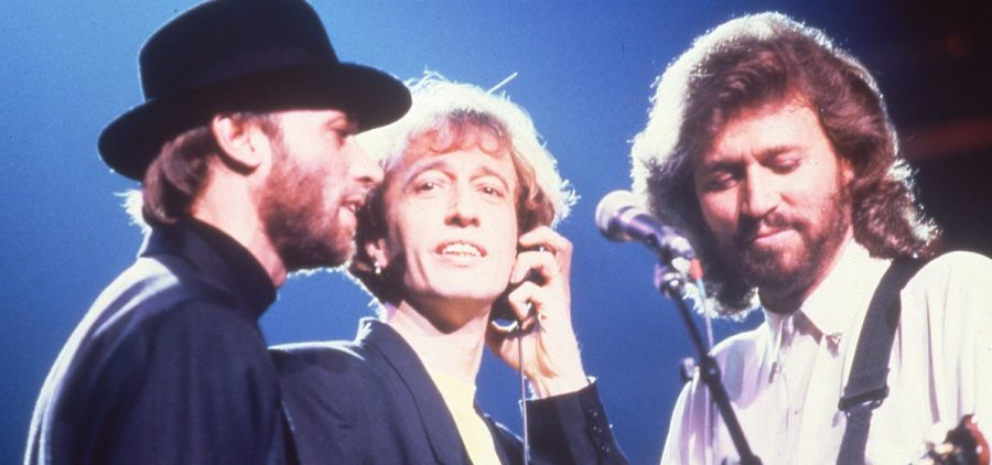 The Bee Gees (l-r): Maurice, Robin and Barry Gibb