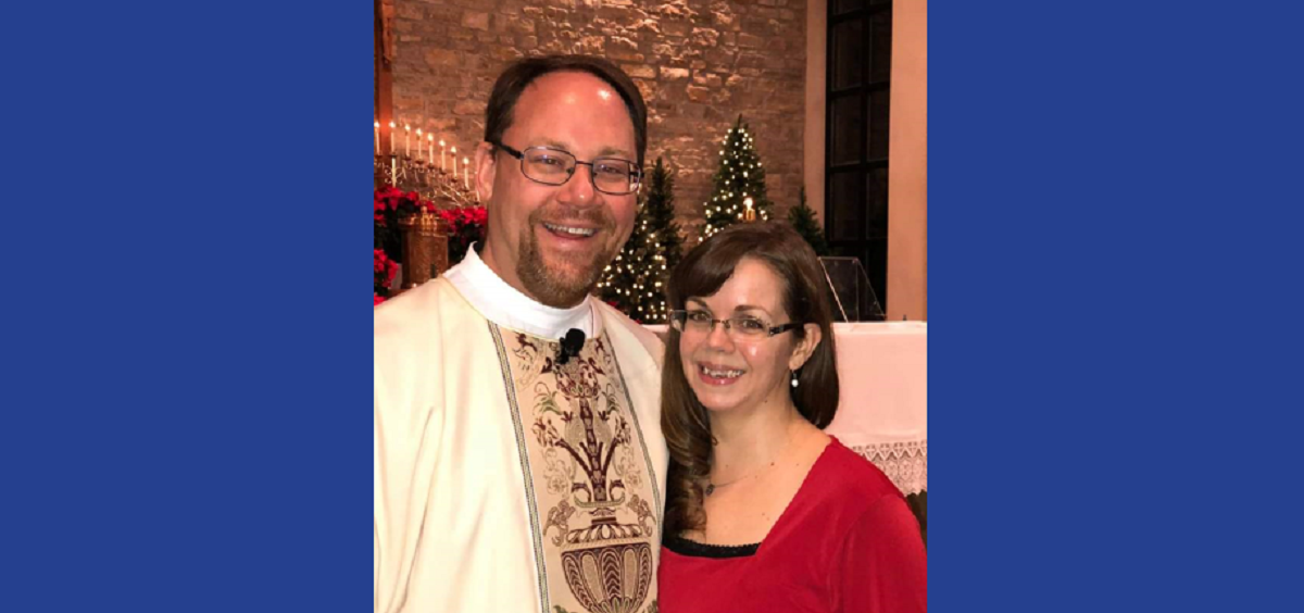 Deacon Dave Bezusko with his wife, Carrie