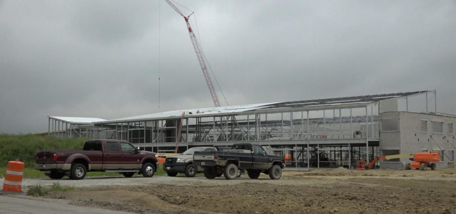 Construction on Licking Heights High School last year. That is among many school building projects funded by the Ohio Schools Facilities Commission, which gets money from the capital budget.