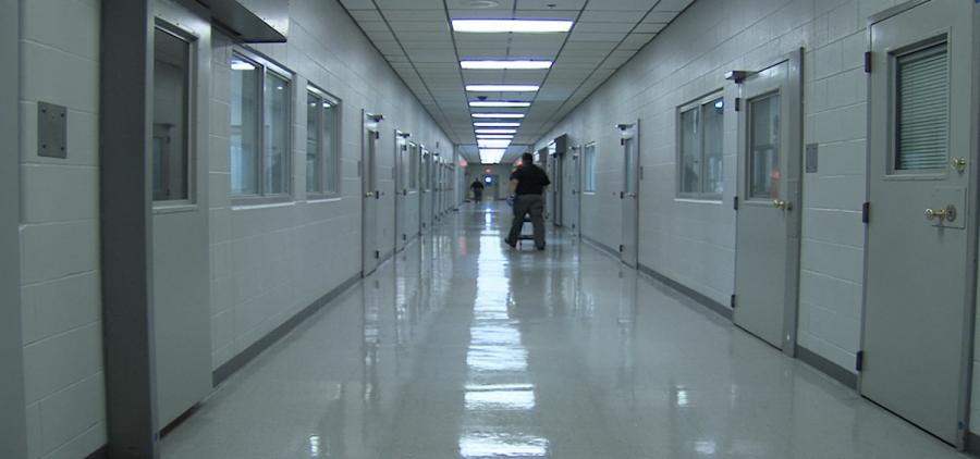 A hallway at the Pickaway Correctional Institution in Orient.