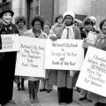 women protesting for equal treatment 1970s