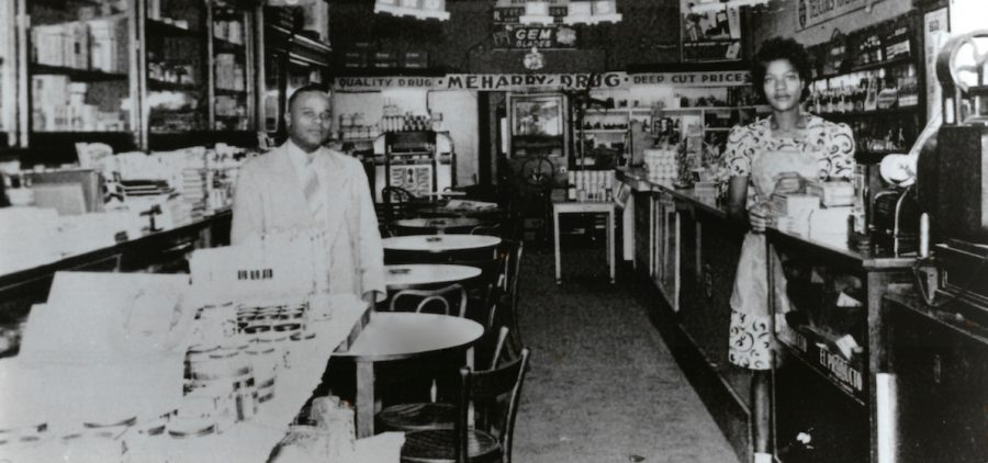 "Black-owned business during the ""Black Wall Street"" days of Tulsa."