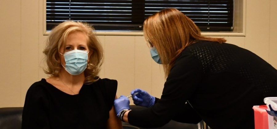 Hopkins County Schools Superintendent Deanna Ashby received a vaccine earlier this month.
