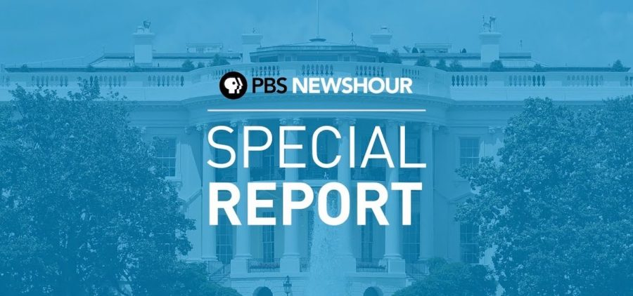 PBS Newshour Special Report banner