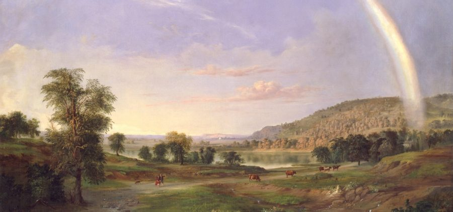 Landscape with Rainbow painting by Robert S. Duncanson