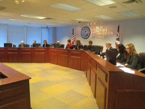 The Public Utilities Commission, meeting publicly in 2016.