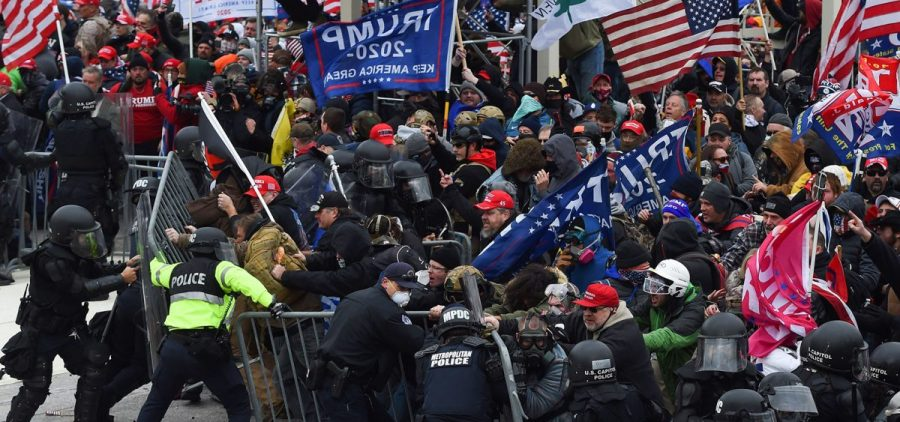 Pro-Trump supporters breeched security and stormed the U.S. Capitol on Jan. 6, 2021. An investigation underway will determine if any off-duty officers were involved in the attack.