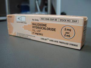 A box of naloxone
