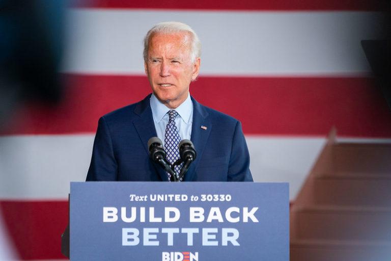 President Joe Biden presents his economic recovery platform.