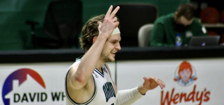 Ohio's Ben Vander Plas scored his 1,000th career point in Thursday's victory over Eastern Michigan.