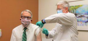 Gov. DeWine receives his second dose of the COVID-19 vaccine.
