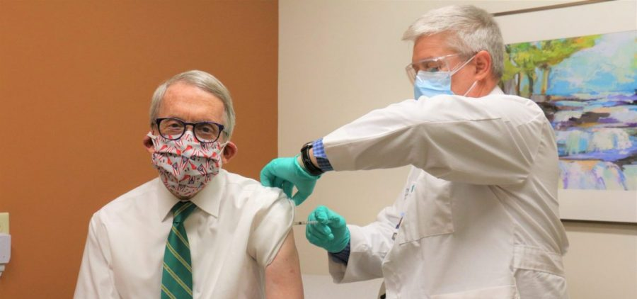 Gov. DeWine receives his second dose of the COVID-19 vaccine.