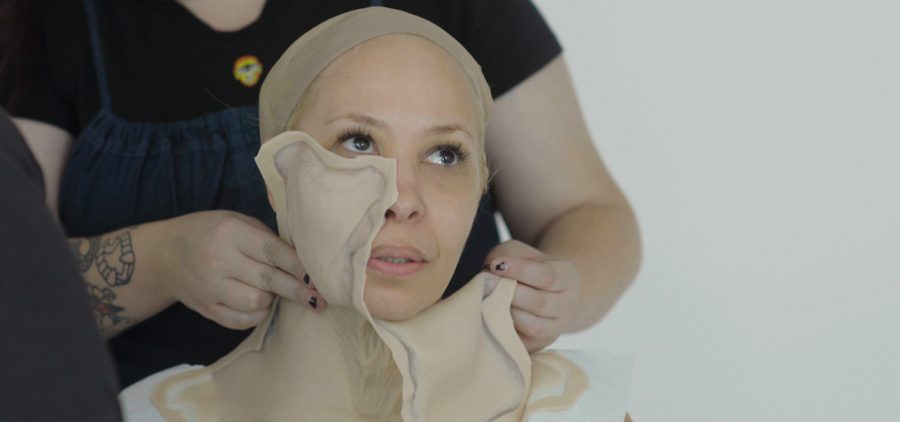 FastForward cast member Carol Causieestko is transformed into a vision of her 85 year old self.