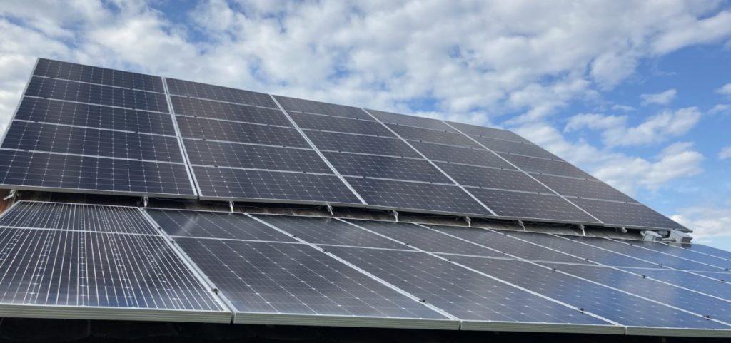 Solar panels on Bryce Baumann's farm.