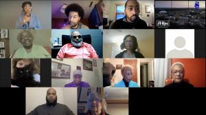 A screenshot of virtual Athens Black Summit attendees