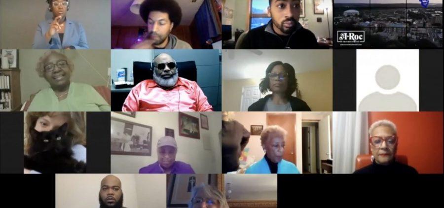 A screenshot of virtual Athens Black Summit attendees