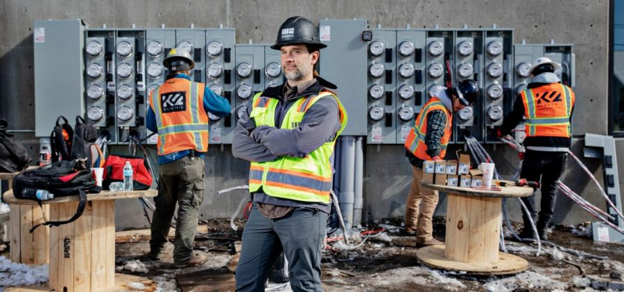 """Tyler Hollon, who works for a construction company in Utah, says eliminating natural gas from apartment buildings can reduce costs. Hollon's company now shares its designs and budgets with other builders. """"The reason we're giving it away is to clean up the air,"""" Hollon says. """"We want everybody to do it. It's everybody's air that we're all breathing. Makes my mountain bike ride that much easier."""""""