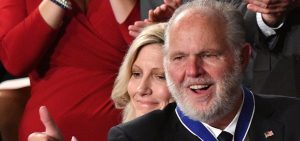 Conservative talk radio host Rush Limbaugh was awarded the Presidential Medal of Freedom during Trump's State of the Union address in February 2020.