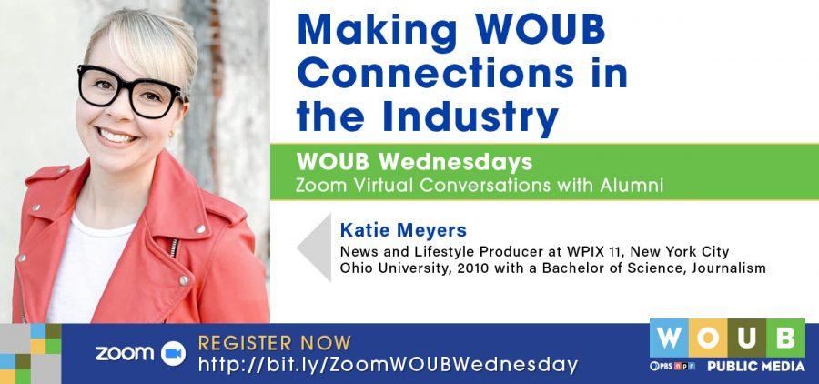 Headshot of Katie Meyers promoting WOUB Wednesdays