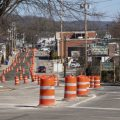 Stimson Avenue in Athens is a sea of orange construction cones as the street gets a $7 million makeover.