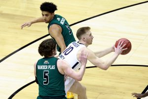 The Virginia Cavaliers take on the Ohio Bobcats in the first round of the 2021 NCAA Division I Men's Basketball Tournament held at at Simon Skjodt Assembly Hall on March 20, 2021 in Bloomington, Indiana. (Photo by Grant Halverson/NCAA Photos via Getty Images)