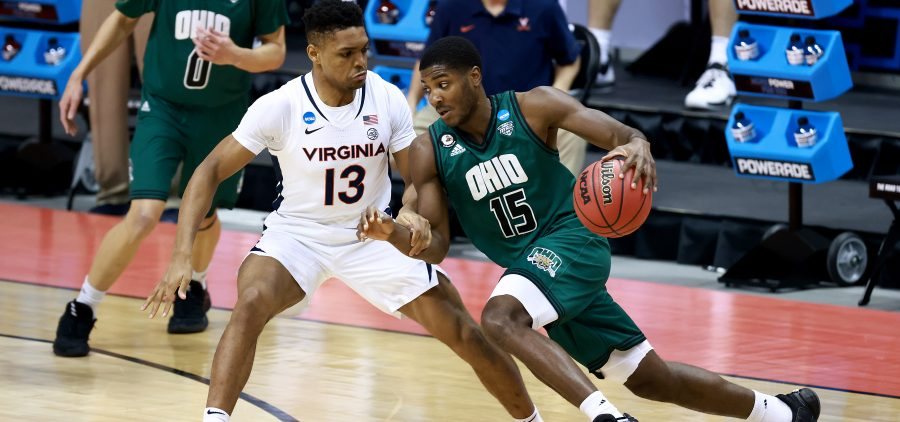 The Virginia Cavaliers take on the Ohio Bobcats in the first round of the 2021 NCAA Division I MenÕs Basketball Tournament held at at Simon Skjodt Assembly Hall on March 20, 2021 in Bloomington, Indiana. (Photo by Grant Halverson/NCAA Photos via Getty Images)