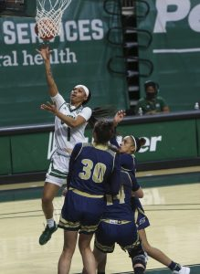 Cece Hooks in Ohio's game against Akron on Jan. 30, 2021 at the Convocation Center.