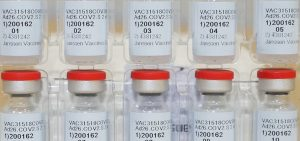 This Dec. 2, 2020, file photo provided by Johnson & Johnson shows vials of the COVID-19 vaccine in the United States.