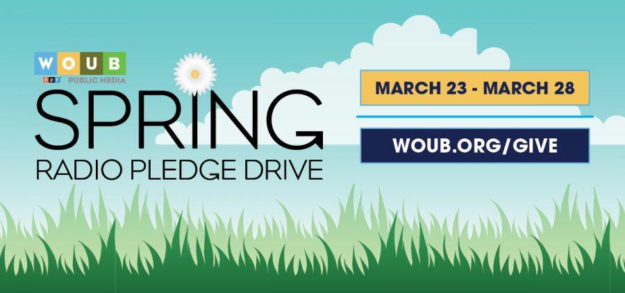 Pledge drive promotional graphic