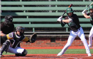 Ohio's Michael Richardson (8) accounted for the game-tying RBI in Ohio's 3-2 win over Milwaukee (Photo: Nick Viland/WOUB)