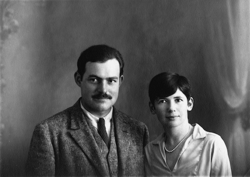 Ernest Hemingway and Pauline Pfeiffer in Paris, France