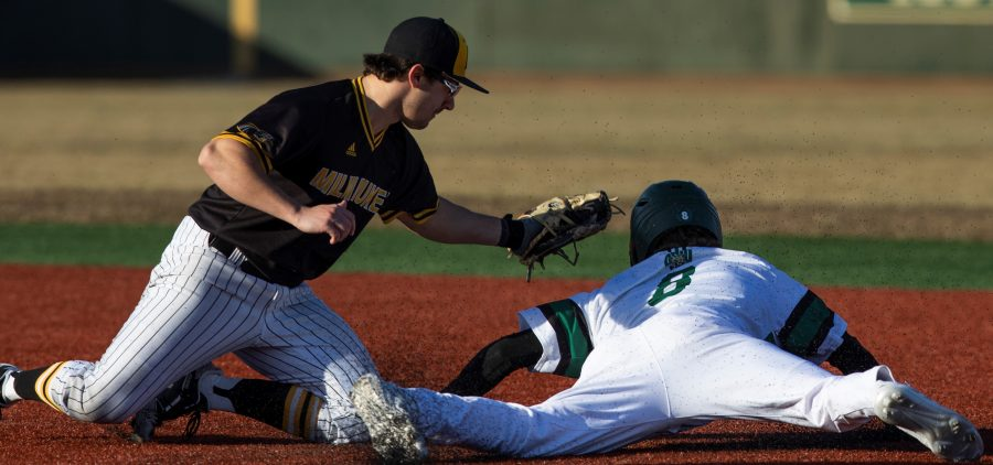 Ohio Baseball swept a doubleheader against Milwaukee on Saturday, March 6, 2021. (Photo: Chris J. Day/WOUB)