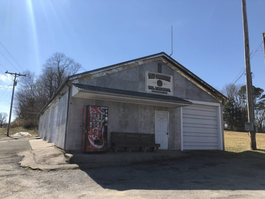 The Tolu Community Volunteer Fire Department, serving as one of several hotspots for Crittenden County Schools students