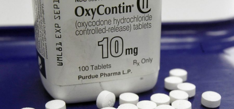 OxyContin pills arranged at a pharmacy in Montpelier, Vt. Purdue Pharma makes the highly addictive drug.