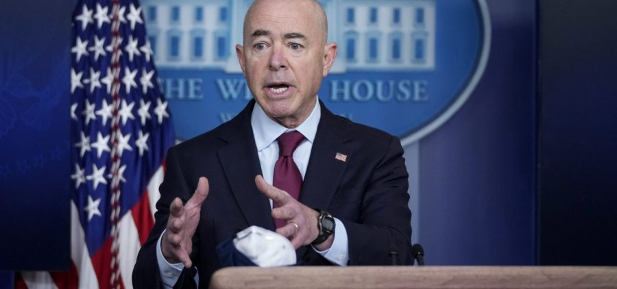 """Homeland Security Secretary Alejandro Mayorkas told reporters that reuniting families was a """"moral imperative"""" for the Biden administration."""