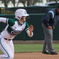 Ohio Softball opened up a four-game series on Friday, March 26 with a doubleheader against Western Michigan (Photo: Nick Viland/WOUB)
