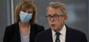 Governor Mike DeWine and Fran DeWine visit Heritage Hall College of Medicine on Monday, April 12, 2021, in Athens, OH.